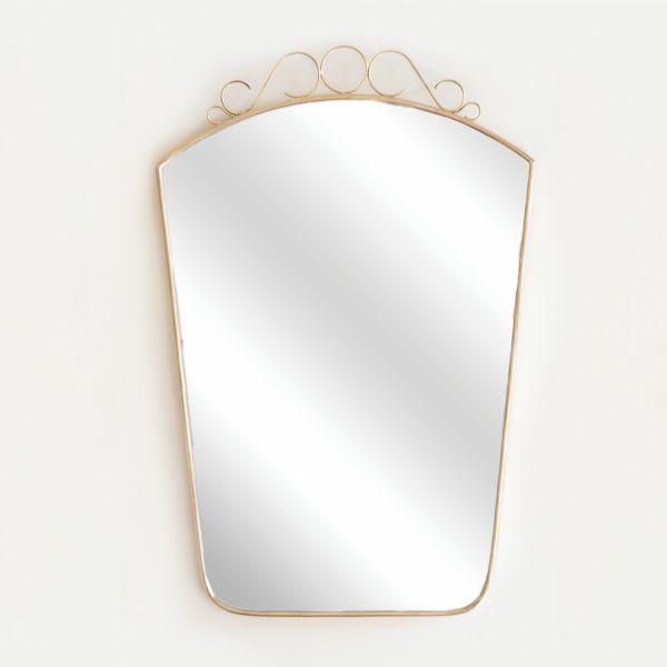 Italian Brass Mirror with Loop Detailing