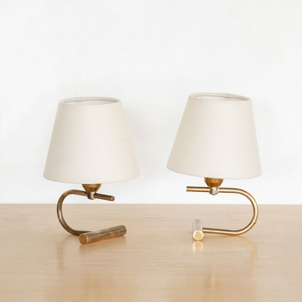 Pair of Petite French Brass Lamps - ON HOLD
