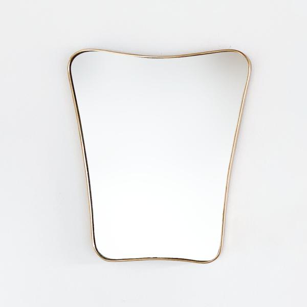 1950's Italian Brass Mirror